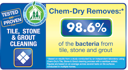 We can remove 98.6% of bacteria from your stone or tile floors!